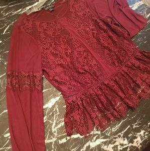 Forever 21 + plus size Lace Shirt